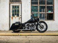 Black Custom Bagger