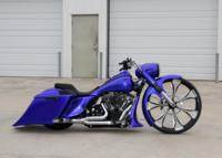 Blue30RoadKing Custom Bagger