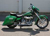 Green95RoadKing Custom Bagger