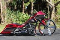 Red and Black Custom Bagger