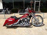 Red and Silver Custom Bagger