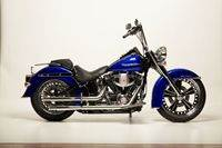 09BlueDeluxe Custom Harley Motorcycle