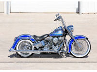 BlueHeritage1 Custom Harley Motorcycle