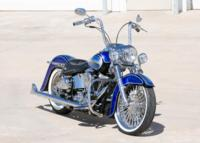 BlueHeritage2 Custom Harley Motorcycle