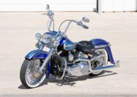BlueHeritage3 Custom Harley Motorcycle