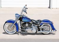 BlueHeritage4 Custom Harley Motorcycle