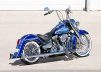 BlueHeritage6 Custom Harley Motorcycle