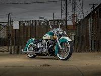 Teal2 Custom Harley Motorcycle