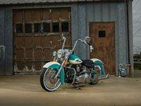 Teal3 Custom Harley Motorcycle