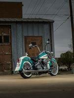 Teal4 Custom Harley Motorcycle
