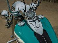 Teal5 Custom Harley Motorcycle