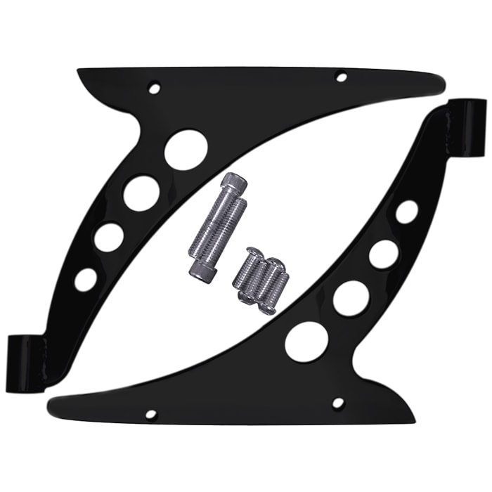 Crash Bar Bracket Eliminators / Fairing Support Brackets, Black