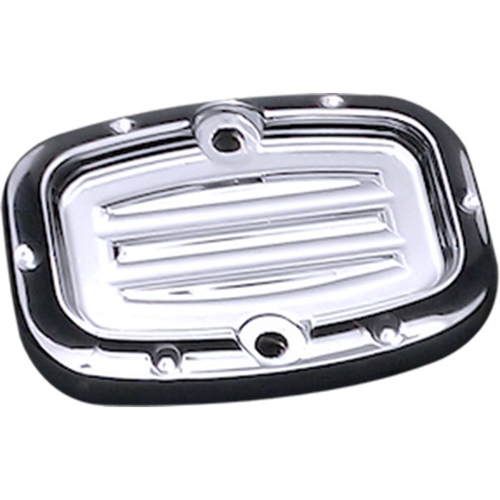 Master Cylinder Lid, 08, Lower, Dimpled, Chrome