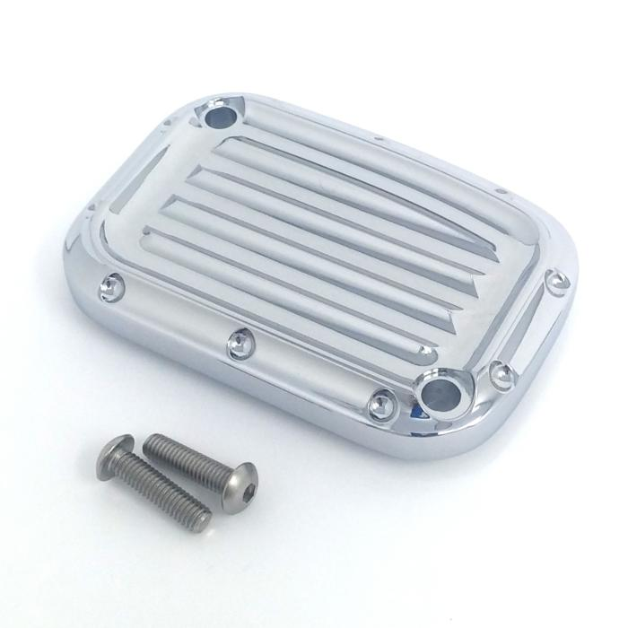 MASTER CYLINDER LID, 17, CLUTCH, DIMPLED, CHROME