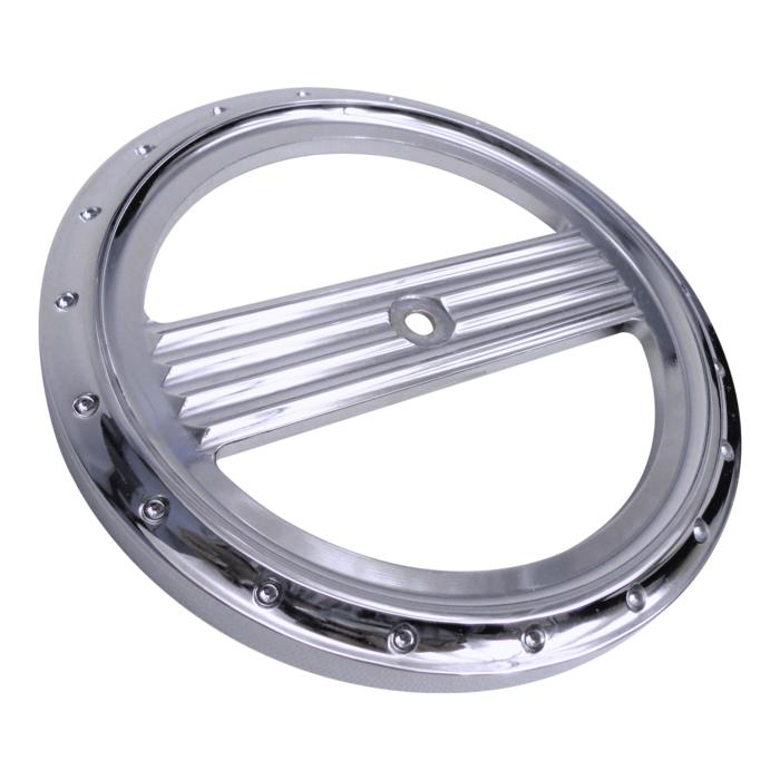 Air Cleaner Cover Insert, Free Flow, Dimpled, Chrome