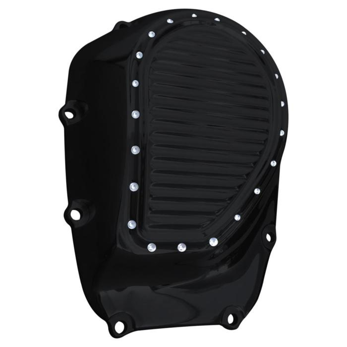 CAM COVER, MILWAUKEE-8, DIMPLED, BLACK