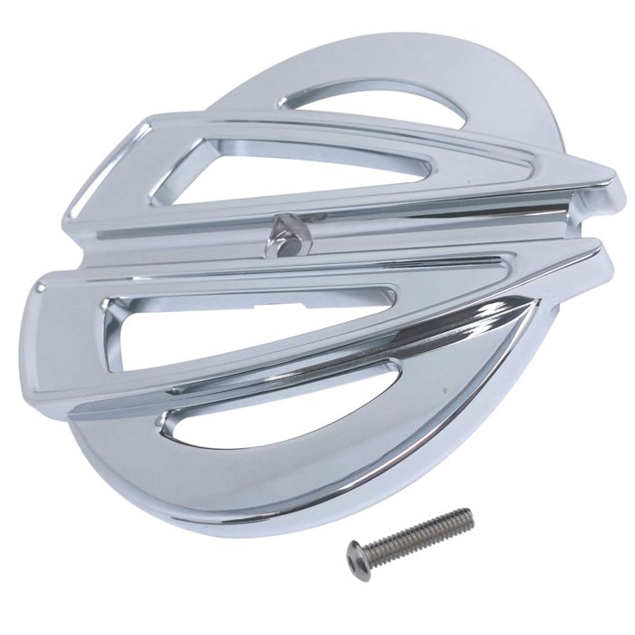 AIR CLEANER COVER INSERT, FREE FLOW, RIPPER, CHROME