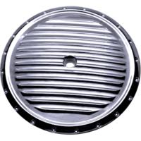 AIR CLEANER COVER INSERT, DIMPLED, CHROME
