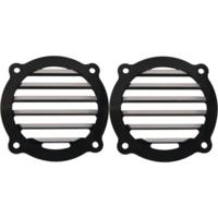 Speaker Grills, Finned, Black, Pair