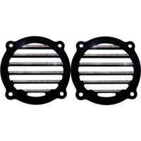 Speaker Grills, Finned, Diamond Cut, Pair