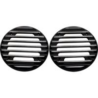 SPEAKER GRILLS, ULTRA, FINNED, BLACK, PAIR