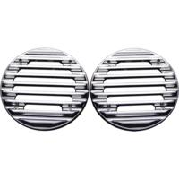 SPEAKER GRILLS, ULTRA, FINNED, CHROME, PAIR