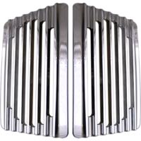 Speaker Grills, Bag Lid, Finned, Chrome, Pair