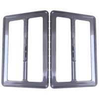 SPEAKER GRILLS, BAG LID, DIMPLED, CHROME, PAIR
