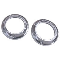 TWEETER TRIM RING, ST25, DIMPLED, CHROME, PAIR