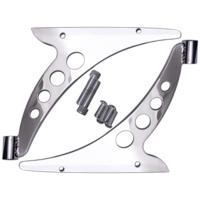 CRASH BAR BRACKET ELIMINATORS / FAIRING SUPPORT BRACKETS, CHROME