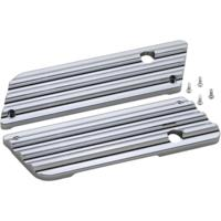 Bag Latch Covers, Finned, Chrome, Pair