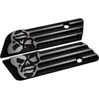 BAG LATCH COVERS, MACHINE HEAD, BLACK, PAIR