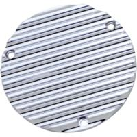 DERBY COVER, FINNED, 3 HOLE, CHROME