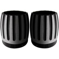 Exhaust Tip, Rinehart, 4 Inch, Black, Pair