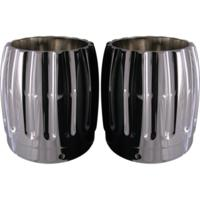 EXHAUST TIP, RINEHART, 4 INCH, CHROME, PAIR