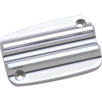 MASTER CYLINDER LID, 08-12, UPPER, FINNED, CHROME