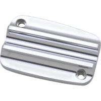 MASTER CYLINDER LID, 08-13, CLUTCH, FINNED, CHROME