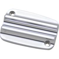 MASTER CYLINDER LID, 17, CLUTCH, FINNED, CHROME