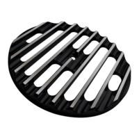 Air Cleaner Cover Insert, Free Flow, Finned, Black