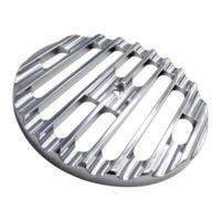 AIR CLEANER COVER INSERT, FREE FLOW, FINNED, CHROME