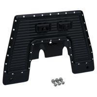 Firewall Plate, 17, Dimpled, Black