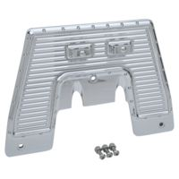 FIREWALL PLATE,17,  DIMPLED, CHROME