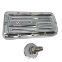 Brake Pedal, 18 Softail, Dimpled, Chrome